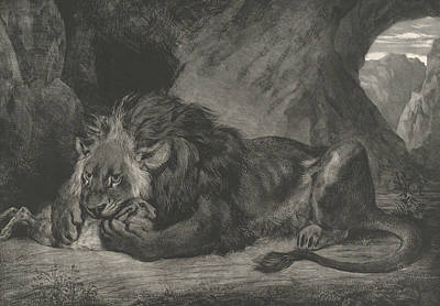 Relief - Lion Of The Atlas Mountains by Eugene Delacroix