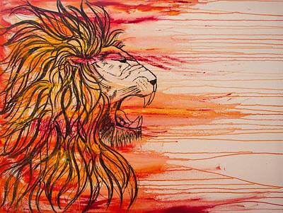 Lion Of Judah Painting - Lion Of The Tribe Of Judah by Jill Wyckoff