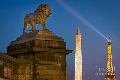 Photograph - Lion Over Paris by Brian Jannsen