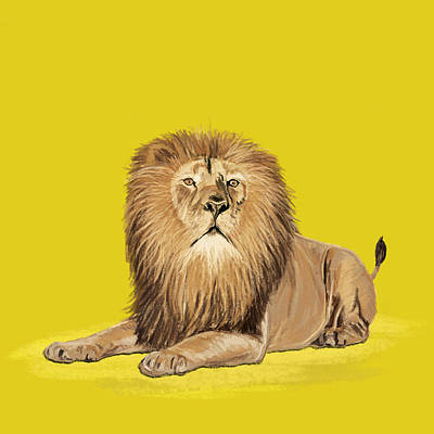 Lion Painting Art Print