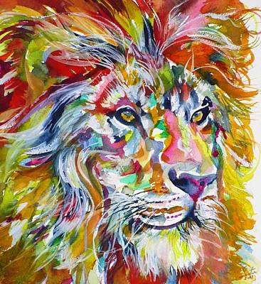 Painting - Lion Portrait by Fabrizio Cassetta
