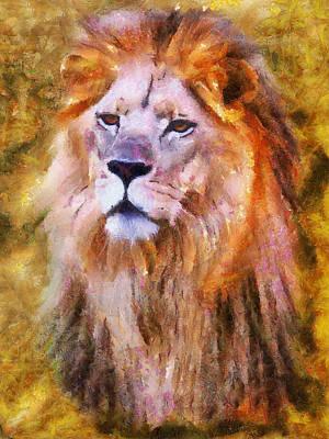 Painting - Lion Portrait II by Jai Johnson