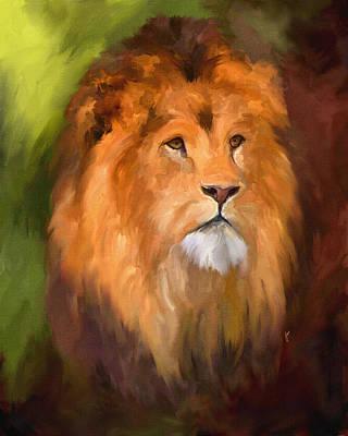Painting - Lion Portrait by Jai Johnson