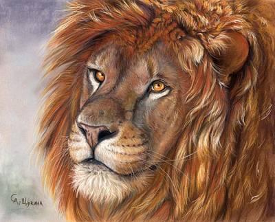 Lion Portrait Print by Svetlana Ledneva-Schukina