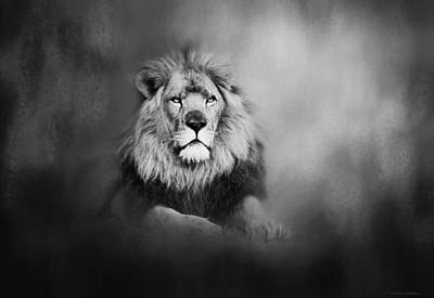 Photograph - Lion - Pride Of Africa I - Tribute To Cecil In Black And White by Michelle Wrighton