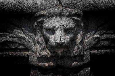 Photograph - Lion Sculpture by Roger Mullenhour