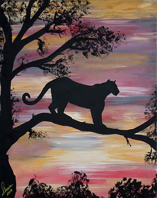 Lion Sillouette Original by Sheena Martinez