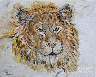 Painting - Lion -  Simba Art Painting  by Ella Kaye Dickey
