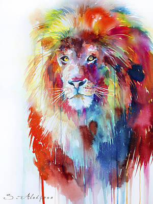 Lion Illustrations Painting - Lion by Slavi Aladjova