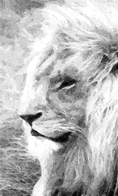 Amazon.com Mixed Media - Lion by Stacey Chiew
