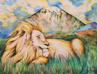 Sahara Drawing - Lion by Tomislav Neely-Turkalj