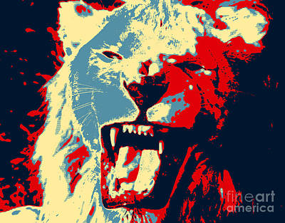 Warhol Lion Art Print by John Rizzuto