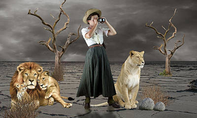 Mixed Media - Lion Whisperer by Marvin Blaine