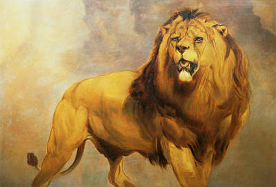 Male Cat Painting - Lion  by William Huggins