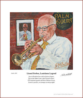 Painting - Lionel Ferbos Louisiana Legend by Peter Mark Butler