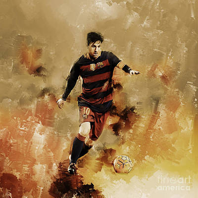 Lionel Messi 01 Art Print by Gull G
