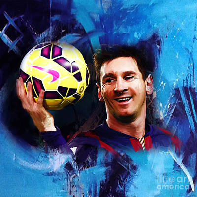 Lionel Messi 03d Art Print by Gull G