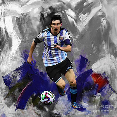 Lionel Messi 094a Art Print by Gull G
