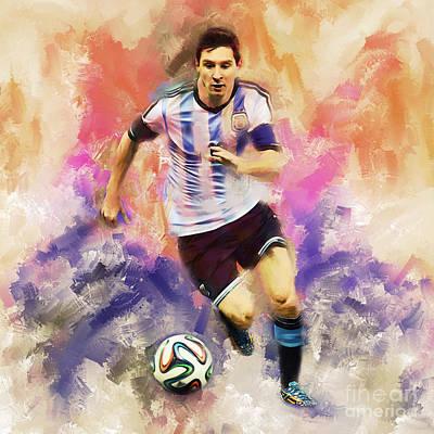 Lionel Messi 094c Art Print