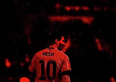 Messi Mixed Media - Lionel Messi 2a by Brian Reaves