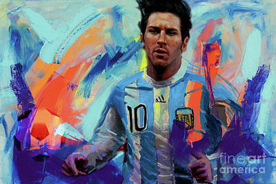 Painting - Lionel Messi 87ui by Gull G