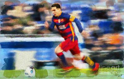 Digital Art - Lionel Messi Collection - 1 by Sergey Lukashin