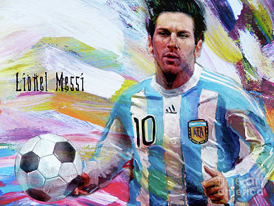 Painting - Lionel Messi Dg1 by Gull G