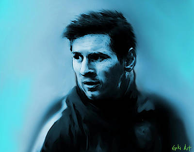 Neymar Wall Art - Painting - Lionel Messi  by Enki Art