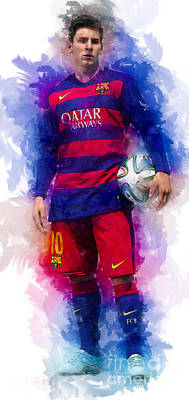 Digital Art - Lionel Messi by Ian Mitchell