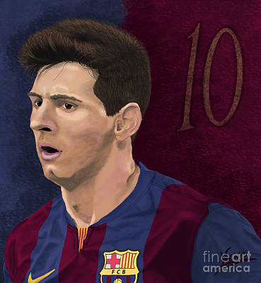 Lionel Messi Art Print by Nenad Arsikj