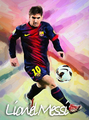 Messi Mixed Media - Lionel Messi by Vya Artist