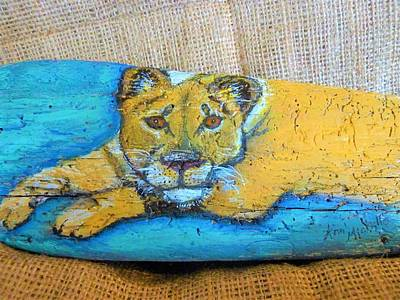 Mixed Media - Lioness by Ann Michelle Swadener