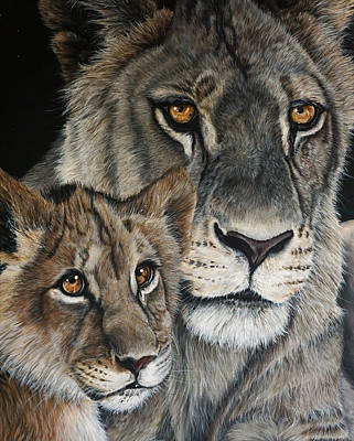 Painting - Lioness by Katie McConnachie