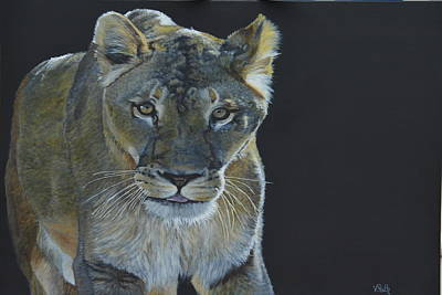 Painting - Lioness Of The Night by Vicky Path