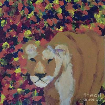 Painting - Lioness Pride 1 Of 6 by Donald J Ryker III