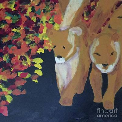 Painting - Lioness' Pride Print 4 by Donald J Ryker III