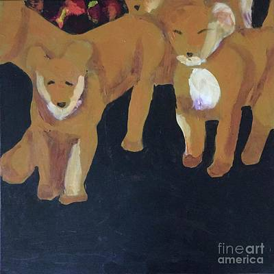Painting - Lioness' Pride 5 Of 6 by Donald J Ryker III
