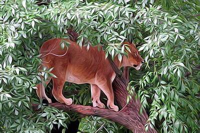 Digital Art - Lioness by S Art