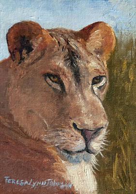 Painting - Lioness by Teresa Lynn Johnson