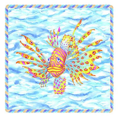 Wall Art - Painting - Lionfish Boy by Svetlana Titarenko