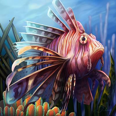 Digital Art - Lionfish by Cass Womack