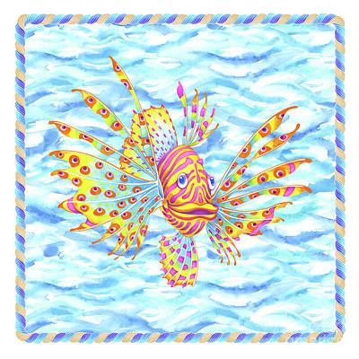 Wall Art - Painting - Lionfish Girl by Svetlana Titarenko