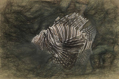 Digital Art - Lionfish by Joe Sparks
