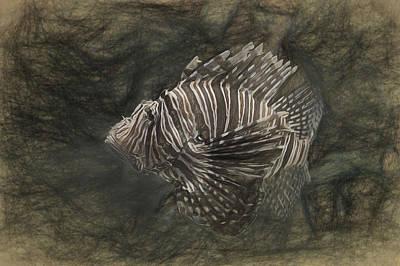 Digital Art - Lionfish by Joe Sparks
