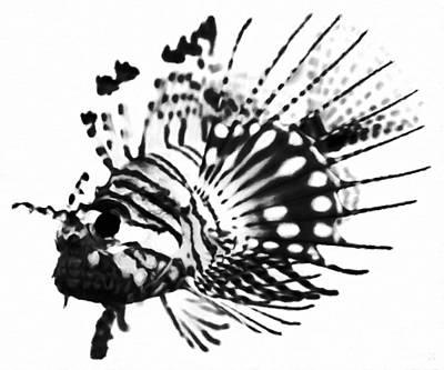 Lionfish Digital Art - Lionfish by Katrina Britt