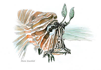 Painting - Lionfish by Mamie Greenfield