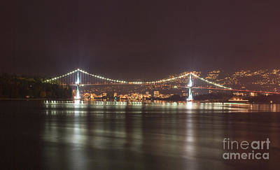 Photograph - Lions Gate Bridge 2 by Louise Magno