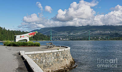Photograph - Lions Gate Bridge And Empress Of Japan Figurehead by Jerry Fornarotto