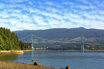 Photograph - Lions Gate Bridge By Stanley Park by David Gn