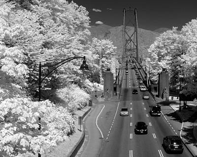 Lions Gate Bridge Summer Art Print by Bill Kellett